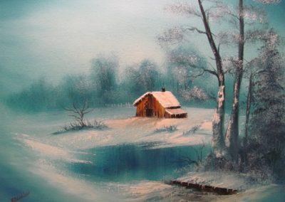Frozen Beauty in Vignette