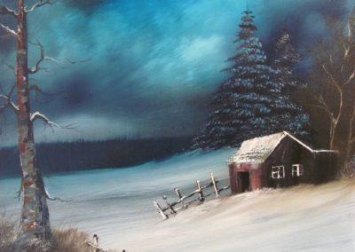 Snowbound Cabin