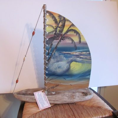 Driftwood Boat - Oil Painting Name